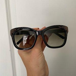Authentic Chloé Black & Gold Sunglasses